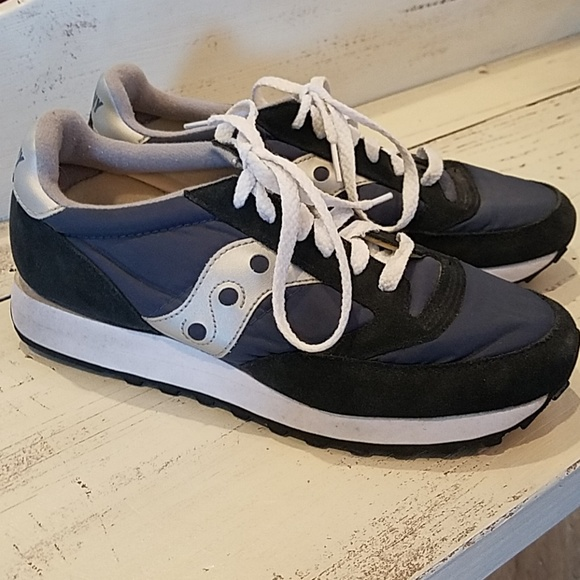 Saucony Jazz Low Pro Shoes in CharcoalBlue   De las mujeres Shoes